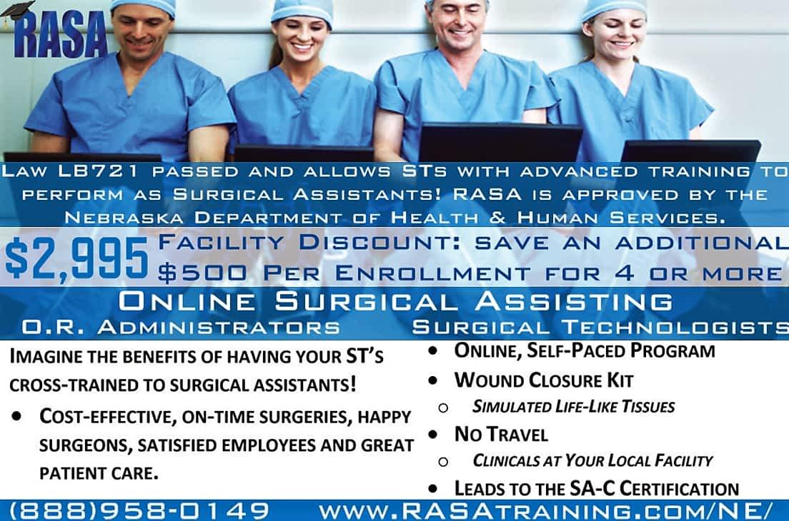 RASA Nebraska LB721 Surgical First Assistant Practice Act